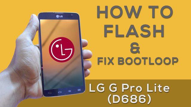 Cara Flash LG D686