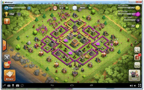 Main Game COC dengan Windroye