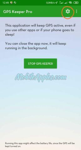 Tampilan GPS Keeper Pro
