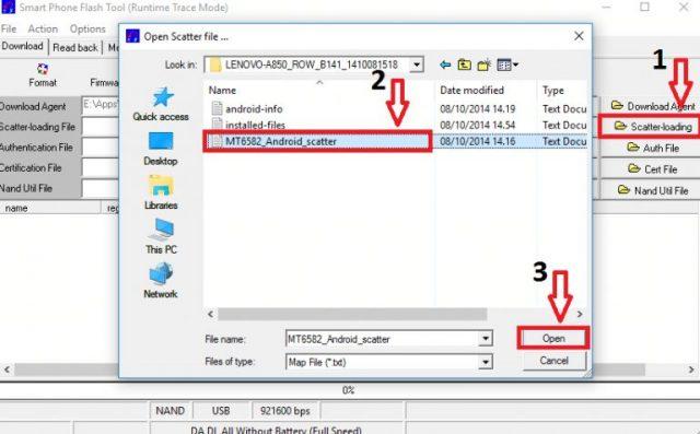 Cara Flash Lenovo A850 via Flashtool