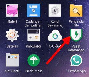 Buka aplikasi Pusat Keamanan