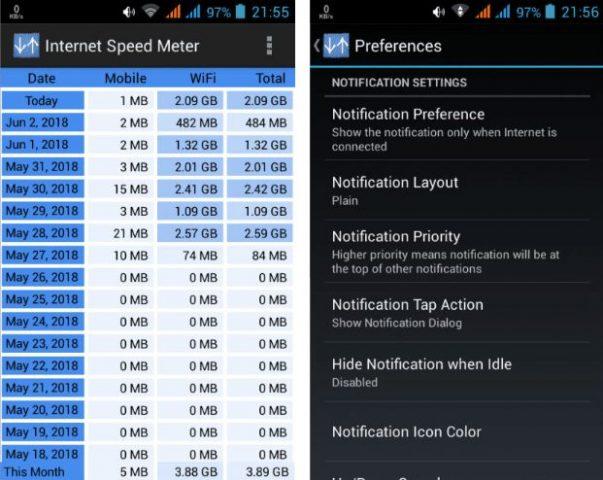 Fitur Internet Speed Meter Pro