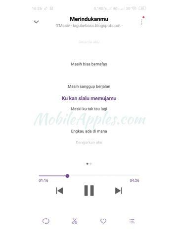 Lirik Lagu di HP Xiaomi Berhasil ditambahkan