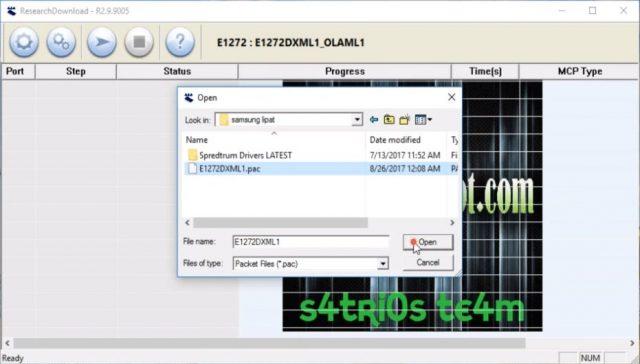 Masukkan firmware Samsung E1272