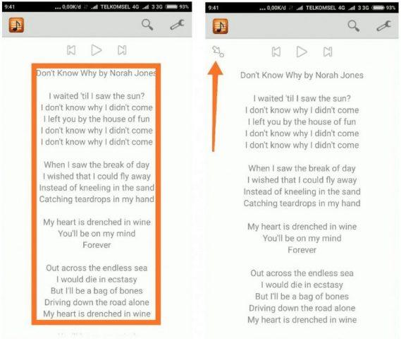 Menambahkan Lirik Lagu Di HP Xiaomi