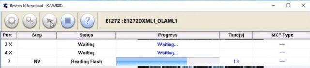 Proses Flash Samsung E1272 sedang berjalan