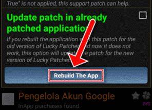 Klik Rebuild The App