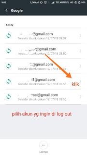 cara log out gmail d hp xiaomi