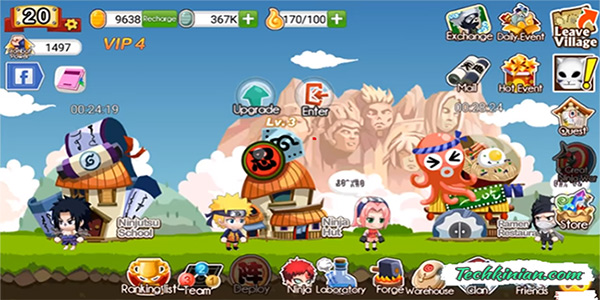 Download Ninja Heroes Mod Apk Unlimited Gold Gratis