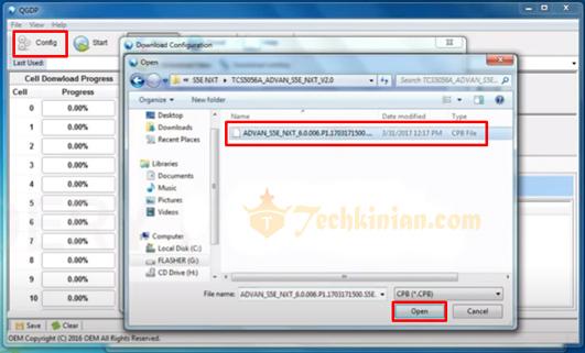 Cara Flash Advan S5E NXT via QGDP Tool